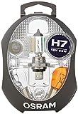 OSRAM ORIGINAL Ersatzlampenbox H7, Halogen-Scheinwerferlampen, 12V PKW, CLKM H7, vollständiges Ersatzlampen-Set (1 Stück)