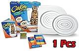 Bac à litière pour chat Amazing K, kit d'entraînement au pot pour animaux et chatons avec herbe à chat