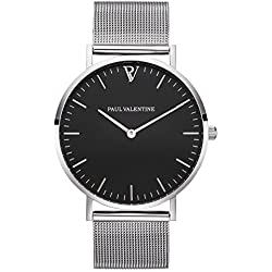 Paul Valentine Watch Finest | Pearl Silver Mesh Women's watch With Elegant And Timeless Design Stainless Steel Bracelet