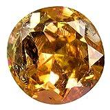1,56 Karat Rundschliff (7 x 7 mm) ungeschliffener gelber Tanzanit, natürlicher lose Edelstein
