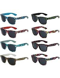 8er Pack X-CRUZE® X01 Nerd Sonnenbrillen Vintage Retro Style Stil Unisex Herren Damen Männer Frauen Brillen Nerdbrille