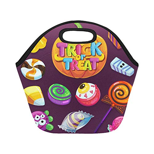 nch-Tasche Happy Halloween-Süßigkeiten-Set Trick Treat Große wiederverwendbare thermische dicke Lunch-Tragetaschen Für Brotdosen Für den Außenbereich, Arbeit, Büro, Schule ()
