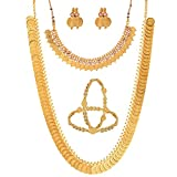 Zeneme Gold-Plated Chain Necklace With E...