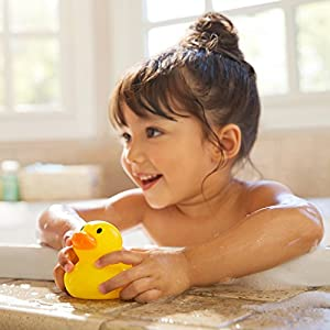 Munchkin Rubber Duck Bath Safety Toy (White Hot Safety Disc Reveals Word Hot When Bath Water is Too Hot for Baby)
