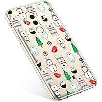 Uposao Handyhülle Huawei Mate 10 Pro Schutzhülle Silikon Transparent Durchsichtig Handyhülle Schutzhülle TPU Dünn Handytasche Etui Case Cover,Schneemann Baum