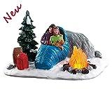 Lemax 84361 - Night Time Campfire - Lagerfeuer Bei Nacht - Beleuchtetes Accessoire - Neu 2018 - Vail Village - Dekoration/Weihnachtsdeko - Weihnachtswelt/Weihnachtsdorf