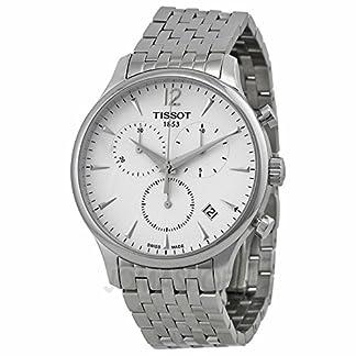 Tissot Tissot T-ClassicTradition Cronógrafo Blanco Dial Acero inoxidable Acero Mens Reloj T0636171103700