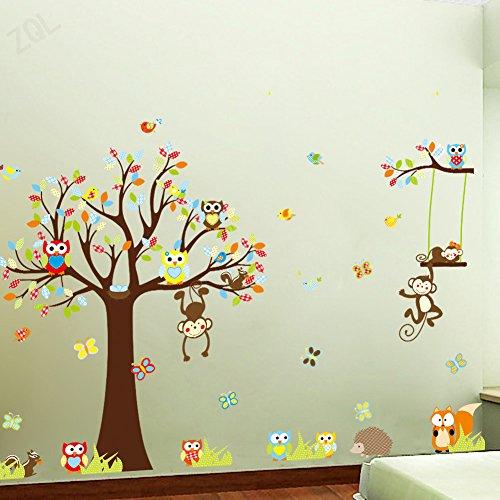 forest-woodland-animals-owl-birds-hanging-monkey-squirrel-fox-hedgehog-colorful-tree-art-wall-sticke