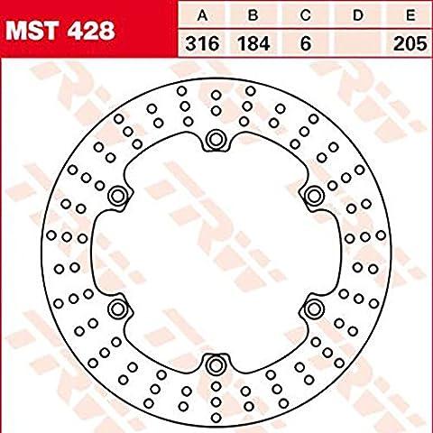 Disque de frein Lucas MST428 pour Honda CTX 1300 ABS SC74 | Honda ST 1300 Pan European SC51 | Honda ST 1300 Pan European ABS SC51
