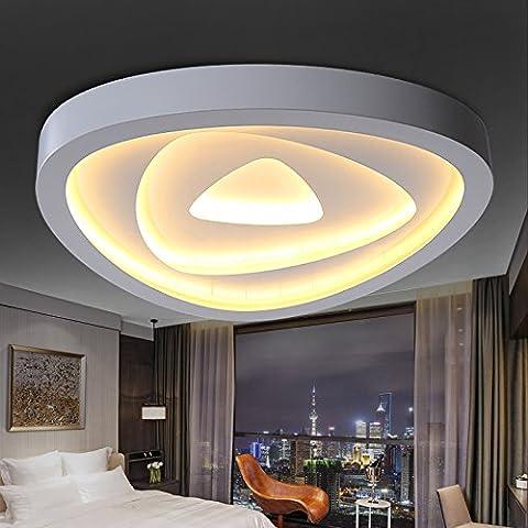 lilamins lumière de plafond moderne minimaliste moderne LED lumière lampe de plafond de personnalité chaude romantique chambre salon Arts creativas, trois light-colored, 60cm avec télécommande