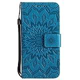 Coque iPhone X/Xs, The Grafu Magnétique à Rabat PU en Cuir Coque, Soleil Fleur...