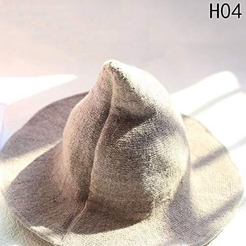 ZYQHY Wolle Sharp Spitz Hexe Hat Beach Sun Cap Halloween Weihnachten Kostüm Zubehör, Hohe Qualität, Camel, 8,5 ()