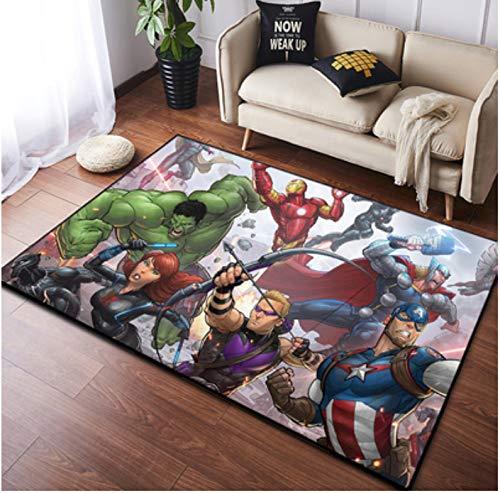 Zzqiao Alfombra Alfombra Rectangular Habitación para Niños Dibujos Animados Anime Marvel American...