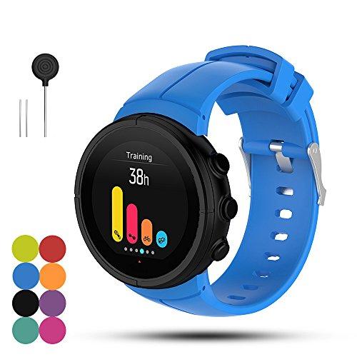 iFeeker Suunto Spartan Ultra/Ultra HR Sport Uhrenarmband Weich Silikon Ersatz Armband Smartwatch Strap für Suunto Spartan Ultra/Ultra HR GPS Smart Uhr mit Installationswerkzeugen