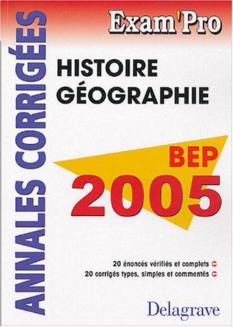 Histoire-Géographie BEP : Annales corrigées