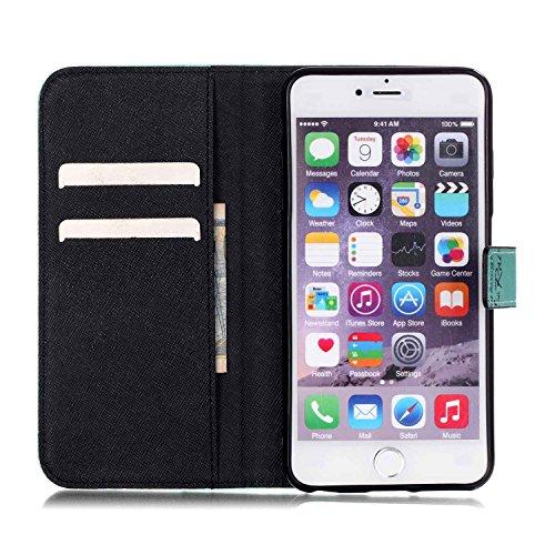 PU Cuir Coque Strass Case Etui Coque étui de portefeuille protection Coque Case Cas Cuir Swag Pour Apple iPhone 6S Plus (5.5 pouces)+Bouchons de poussière (S1) 2