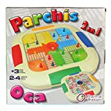 Juego Parchís y Oca para 4 jugadores
