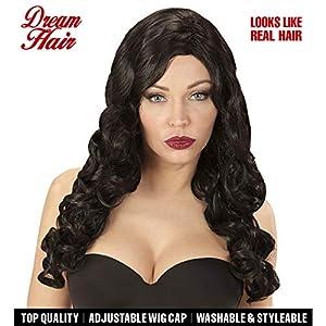 WIDMANN 06455peluca Rihanna Negro en Drea mhair Calidad, mujer, One size