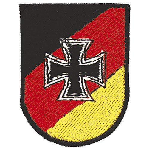 Targhetta 'Germania orecchini a forma di croce' misura 5 cm x 6,5 cm easybiz (03262) militare Esercito Army Military dell'esercito armardi blu - Con logo haifischtech applicazione scudett