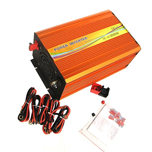 Ampoule eco Worthy 3000 W 12 V DC to 220 V Pure Sine Wave Power Off Grid Inverter For RV Boat