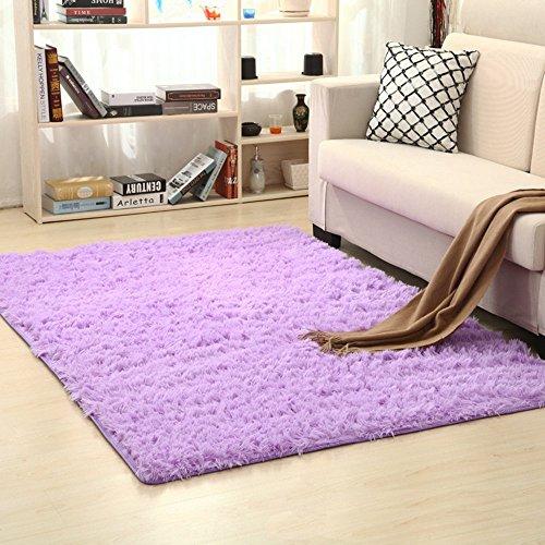 Jian ya na anti-skid tappeti super morbido soggiorno tappetini fluffy shaggy area rugs for home deco sala da pranzo camera da letto camera bambini, purple, 120x160cm
