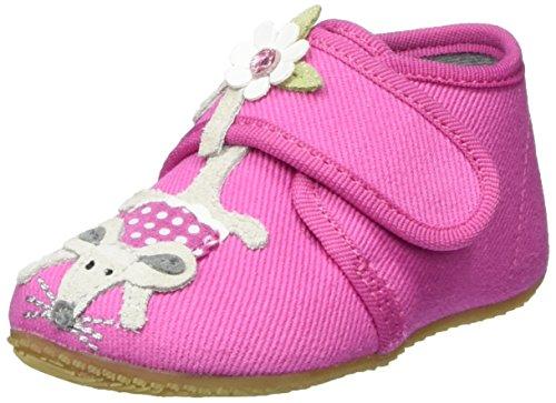 Living Kitzbühel Baby Klett Katze/Maus Baby Mädchen Krabbel- & Hausschuhe Pink (pink 340)