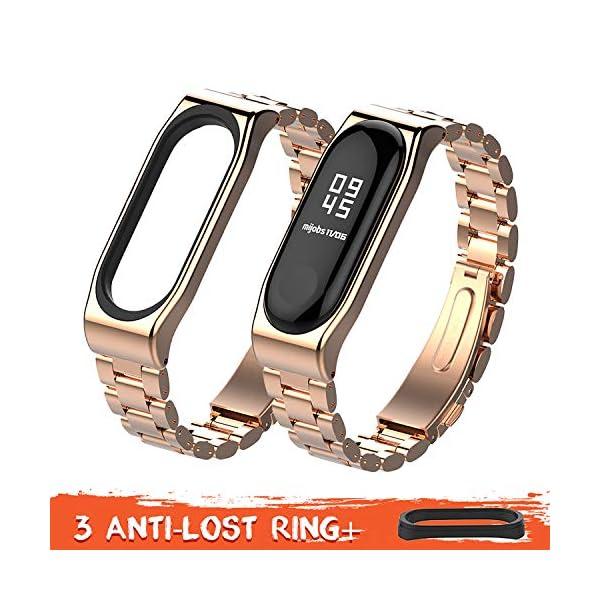 Mijobs Correas de Xiaomi Mi Band 4 Mi Band 3 Correa Bracelet,Wrist Strap Replacement Band para Xiaomi Mi Band 3 Mi Band 4 Correa(No Host) 3