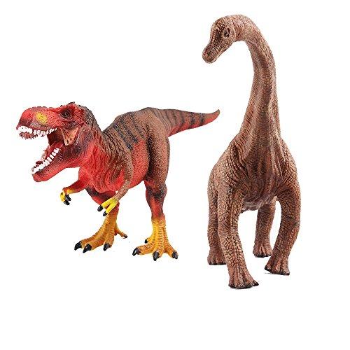 (DINO-5) deAO Dinosaurier-Figuren ( Diplodocus , T-Rex)