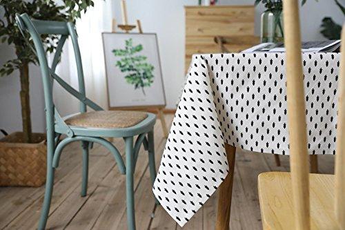 Simple Moderne Rectangulaire Coton Lin Nappe Lavable Dîner Pique-Nique Table Tissu Accueil Décor - Assorti Taille LAD-I , 100*140cm