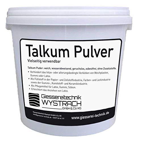 GTW Talkum Puder (Formpuder/Trennmittel) 5kg Eimer Gummipflege Reifenmontage Werkstatt, Latexpuder Anziehhilfe Latex, Talcum Powder Weiß (Talkum-pulver)