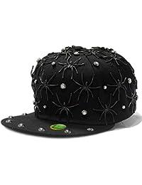 LOCOMO Men Women Black Spider Baseball Cap FFH315s01