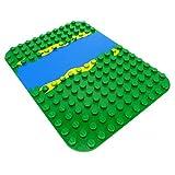 1 x Lego Duplo Bau Platte grün blau 12 x 16 Noppen Wasser Fluss für Set 2604 2605 9194 31074