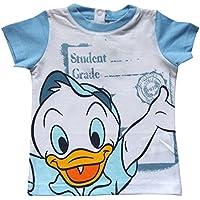 T-Shirt Donald Duck T-Shirt Short Sleeve Summer Baby 12/30months–en5301 .mesi 18 sky blue