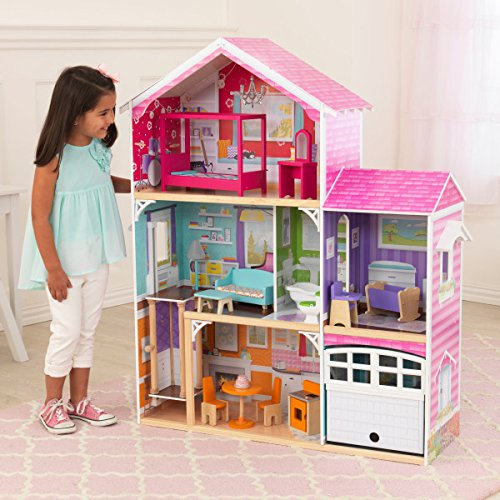 KidKraft Puppenhaus Barbiehaus mit Möbel Avery 3-stöckig 100,5x32x116,3 cm 65943