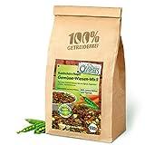 Original-Leckerlies: Gemüse-Wiesen-Mix II 500g, ***Premium Qualität*** Kaninchenfutter, Nagerfutter, Meerschweinchenfutter, Naturprodukt für Nager mit Gemüse und Kräutern