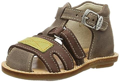 Minibel Kerry, Chaussures Bébé marche bébé garçon, Marron (12 Praline/Cuir), 24 EU