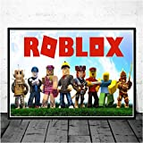 yhnjikl Poster and Prints Hot Classic Roblox Game Cartoon Anime Comics Wall Art Canvas Painting Wall Pictures for Living Room Home Decor 40x60cm sans Cadre