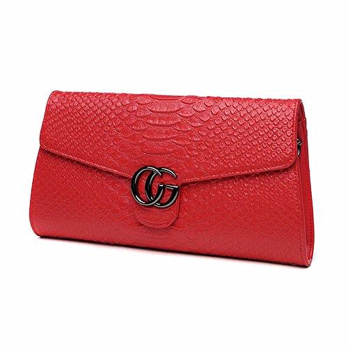 la borsetta, grandi capacità di banchetto borsa,rosa gules