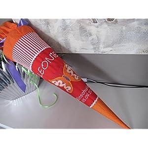 #22 Schmetterling rot-orange Schultüte Stoff + Papprohling + als Kissen verwendbar