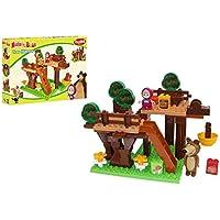 Big 800057106 Bloxx Masha and the Bear Tree Hideout - Juego de bloques de construcción