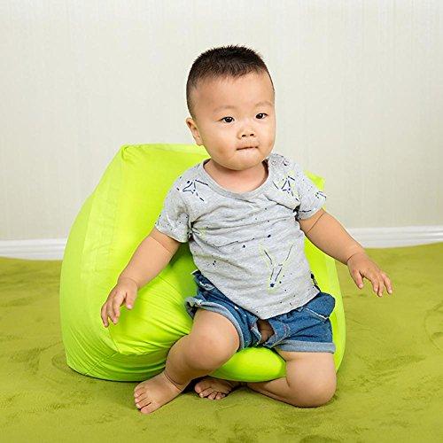 NZGDPGSY Sitzsack Kind Kreativ Faules Sofa Einfarbig Knochenloses Sofa Kindergarten Weicher Sitz 0,5 mm EPS-Partikel Füllung Waschbar Säugling Kein Formaldehyd Segeltuch 42 * 42 * 30 cm , dark green