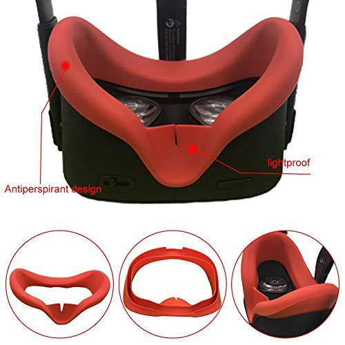 huaqiang194 VR-Gesichtsschnittstelle, VR-Gesichtssilikonkissen und Schaumabdeckkissen Ersatz-Komfortset für Oculus Rift Quest - Verhindern Sie Augeninfektionen Schweißfest Waschbar