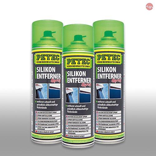 Petec_bundle 3X PETEC SILIKONENTFERNER Spray Entfetter Silicon Dose Reiniger 500 ML 70950