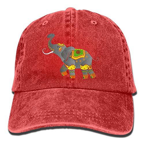 Zhengzho Sombrero de dril de algodón ajustable para mujer de los elefantes...