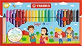 STABILO Filzstift mit Kappenring - Cappi - 24er Pack - mit 24 verschiedenen Farben