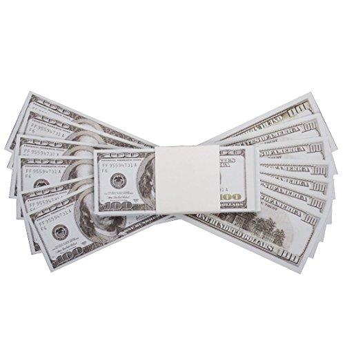 PROP ARGENT DOLLARS AMÉRICAINS GB EUR- $ 10.000 PLEIN ÉCRIT COPIE DE STYLE ANCIEN DE 100 DOLLARS DE FACTURES Pour Film Jouet Faux Pistolet d'Argent Prétend Casino Party Cash Gun Cannon Accessoires (us) (Spiel Dollar)