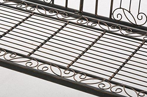 CLP Eisen-Gartenbank ADELE im Landhausstil, aus lackiertem Metall, 107 x 54 cm Bronze - 7