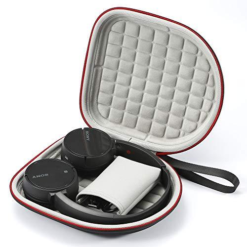 Coque Rigide pour Casque sans Fil Bluetooth Sony MDR-ZX330BT Sony WH-CH500, Sac de Transport et de Protection de Voyage - Noir