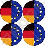 Europa EUROPÄISCHEN union-germany Flagge Roundels eu-de Deutscher 50mm (5,1cm) Vinyl bumper-helmet Aufkleber X4