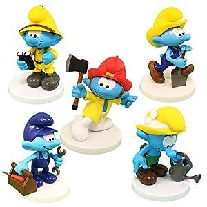 Sbabam Puffi dei Mestieri Pack B - Lote de 5 muñecos (versión MAX)